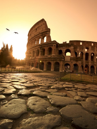 colosseum-and-via-sacra-sunrise-rome-italy-posters