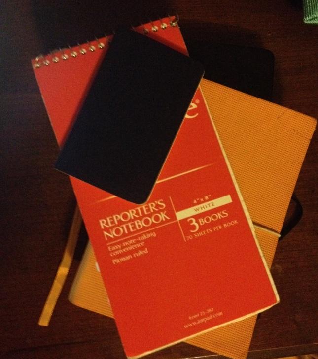 Just a few of my handy dandy notebooks.